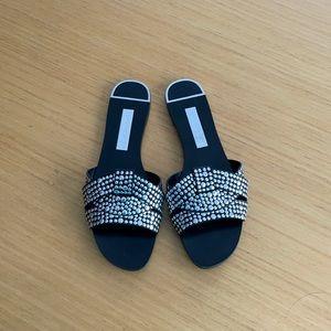 Zara basic studded slides size 39